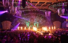 In Nightclub. Big Concert.