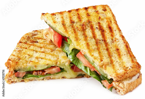 Foto op Canvas Snack Grilled sandwich or panini