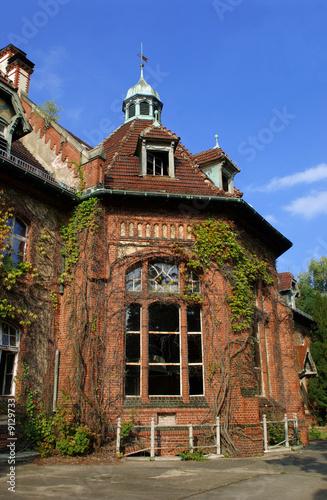 In de dag Oud Ziekenhuis Beelitz Beelitz Heilstätten - leerstehende Ruine