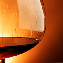 Snifter Glass Of Cognac Close-...