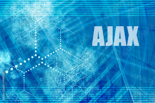 AJAX Blue Abstract Background with Internet Network Wallpaper Mural