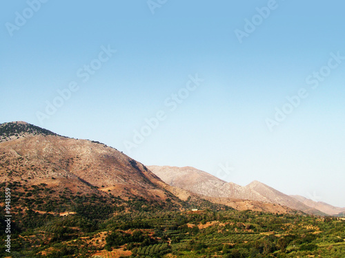 Foto auf Gartenposter Hugel countryside in Crete