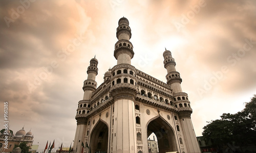 Poster Artistique 400 year old historic charminar monument in Hyderabad India