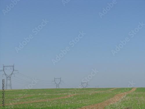 Foto op Aluminium Blauw électricité