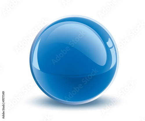 In de dag Bol 3d vector blue sphere