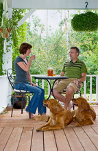 Couple On Porch