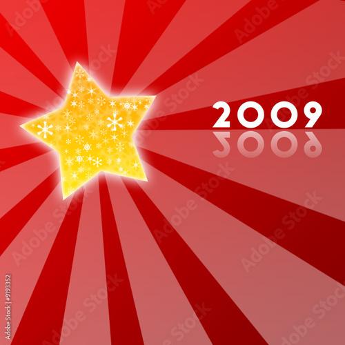 Fotografia  etoiles et flocons 2009 rouge