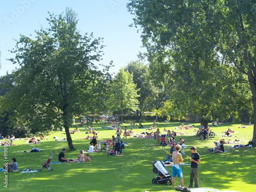 Fotografie, Obraz  parc et détente