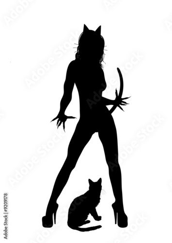 Canvas Print Cat Woman