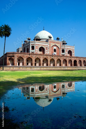 Poster Delhi Humayun's Tomb and reflection, New Delhi, India