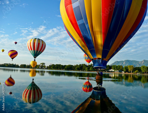 Door stickers Balloon Hot Air Balloons