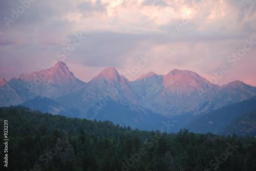Wall Murals Light pink Colorado Mountains II