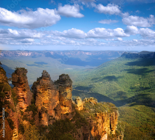 Foto op Canvas Australië Three Sisters, Blue Mountains