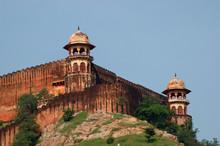 Detalle De La Fachada Del Fuerte Amber En India