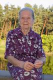 Fototapeta Łazienka - 75-year-old grandmother