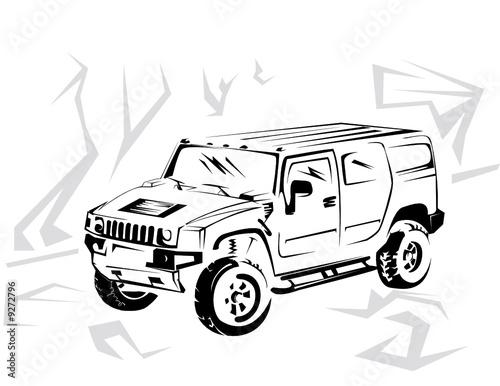 Hummer H2 Drawing
