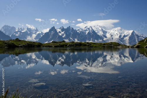 Wall Murals Alps Reflet massif du Mont Blanc