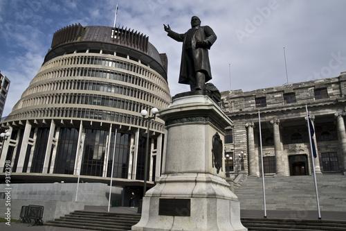 Parliament buildings, The beehive, Wellington, New Zealand