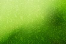Fond Floral Jaune Et Vert