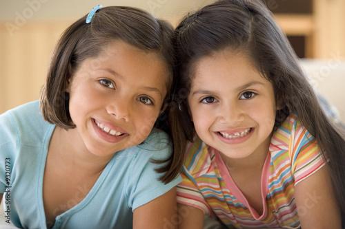 Fotografie, Obraz  Portrait Of Two Young Girls