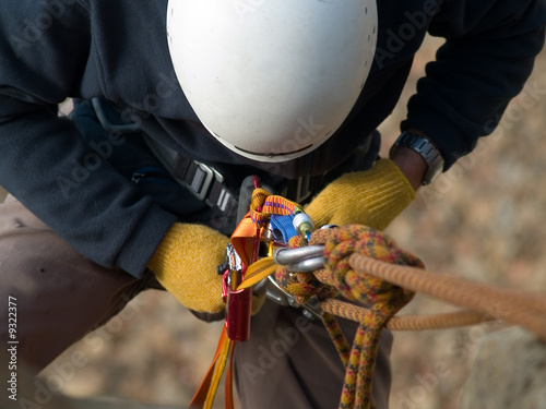 Foto op Plexiglas Alpinisme climbing equipment close-up
