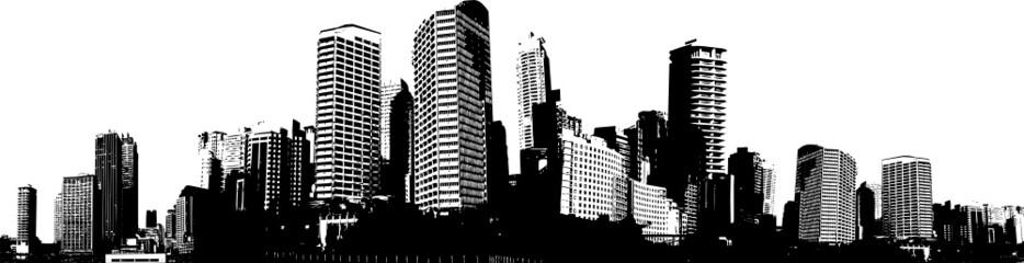 Black and white panorama ci...