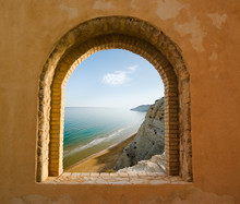 Arched Window On The Coastal L...