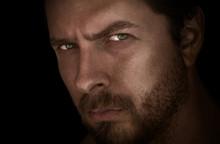 Dark Closeup Face Portrait Of ...