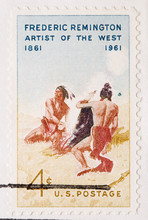 This Is A Vintage 1961  Stamp Frederic Remington