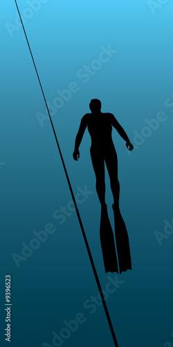 Photo underwater diving, vector illustration