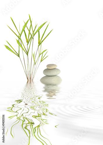 Foto op Canvas Zen Zen Spa Stones and Bamboo
