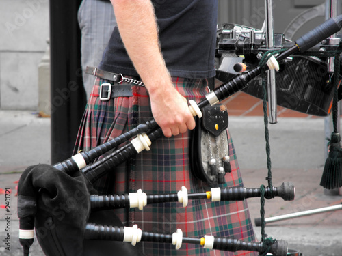 Canvas Bagpipe street musician