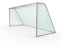 3d Image Of A Soccer Goal.