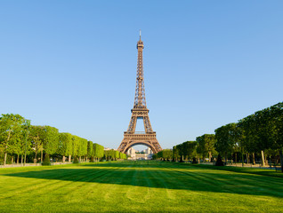 The Eiffel Tower from the Champ de Mars.