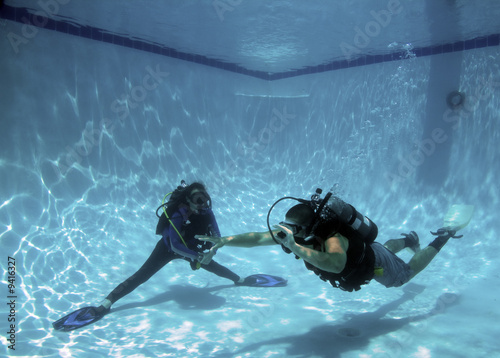 Fotografie, Obraz  scuba diver swimming