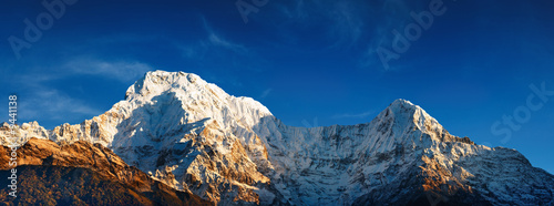 Wall Murals Nepal Mount Annapurna South at sunrise, Himalaya, Nepal