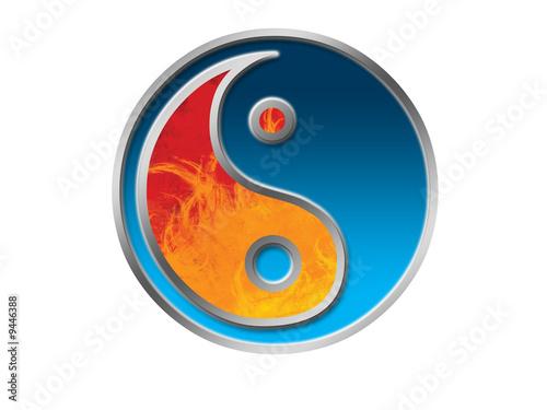 Photo  Jing Jang symbol isolated