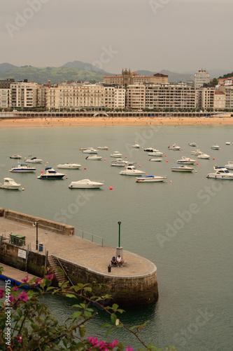 Poster Khaki ponton sur port
