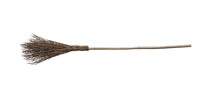 Witch Broomstick Isolated On W...