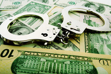 Silver Handcuff And Dollar Ban...