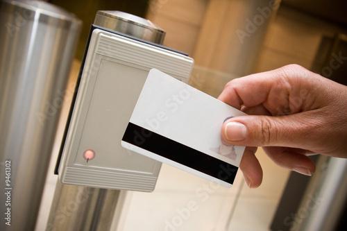 Fotografía  Insignia Sécurité accès plato portillon détecteur identité Magneti