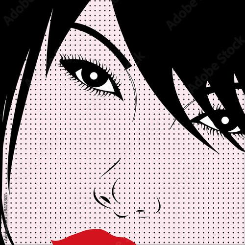 Pop art style girl