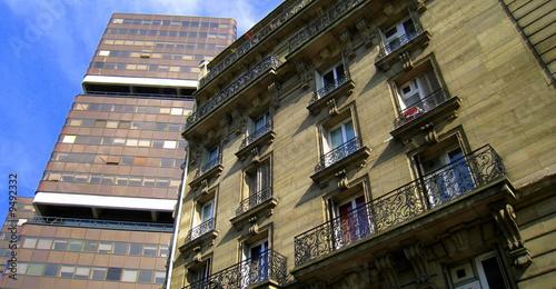 contraste parisien (tolbiac) Canvas Print