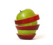 Mixed apple isolated on a white background