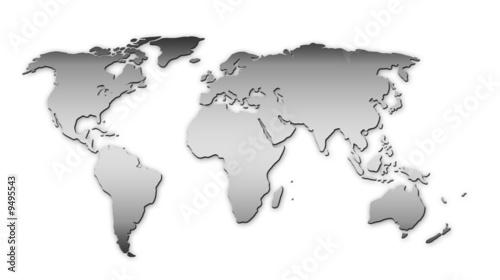 Foto op Plexiglas Wereldkaart Weltkarte