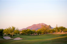 Golf Course In The Arizona Des...