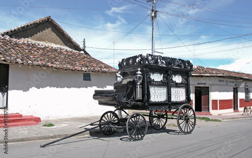 Photo  old black hearse   in granada nicaragua