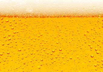 Fototapeta Close up of beer bubbles