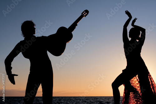 Fotografie, Obraz  spanish dancers