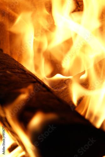 In de dag Grill / Barbecue Feuer und Flamme
